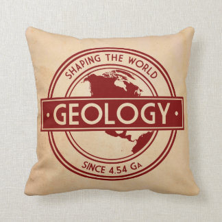 Geology- Shaping the World Logo (North America) Throw Pillow