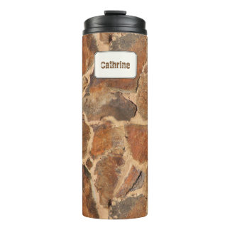 Geology Stone Wall Structure Custom Name Thermal Tumbler