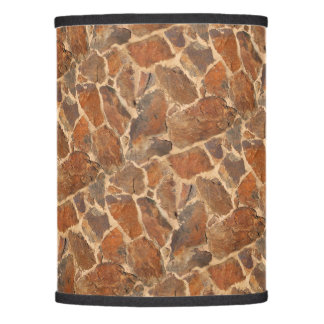 Geology Stone Wall Structure Photo Warm Golden Lamp Shade