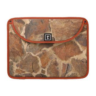 Geology Stonewall Pattern Warm Golden MacBook Pro Sleeve