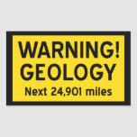 Geology Warning Sign Rectangle Stickers