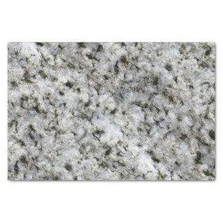 "Geology White Granite Rock texture 10"" X 15"" Tissue Paper"