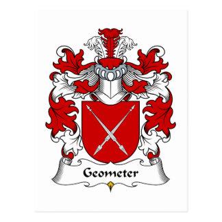 Geometer Family Crest Postcard