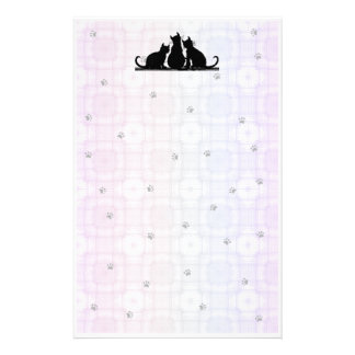 Geometic-Paws Cats Stationery Design