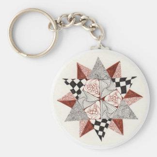 Geometic Star Zendala Key Chain