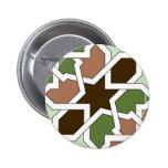 Geometría 04 de patrón de mosaico en verde marrón pins