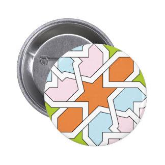 Geometría 12 de trazado de azulejo naranja y azul pins