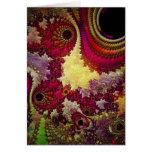 geometría abstracta asombrosa del fractal tarjeta de felicitación