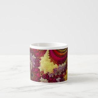 geometría abstracta asombrosa del fractal taza espresso