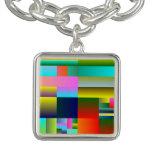 Geometría abstracta colorida pulsera