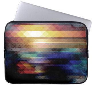 Geometría abstracta de colores funda portátil