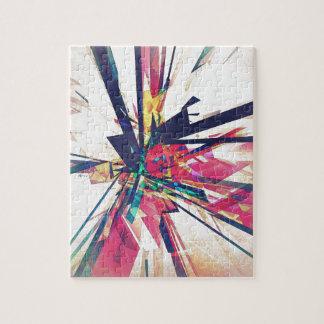 Geometría abstracta rompecabezas con fotos