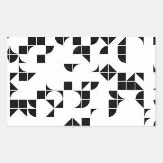 Geometría básica pegatina rectangular