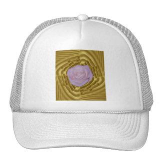 Geometría color de rosa y sagrada rosada gorra