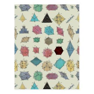 Geometría cristalina tarjetas postales