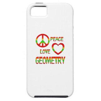 Geometría del amor de la paz iPhone 5 carcasas