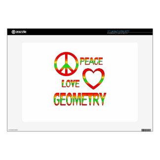 Geometría del amor de la paz portátil calcomanías
