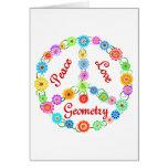 Geometría del amor de la paz tarjeta