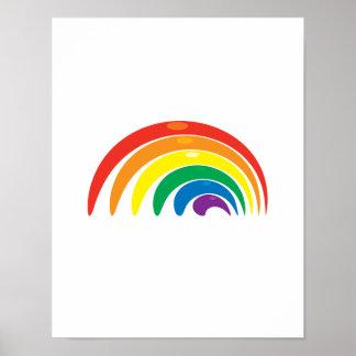 Geometría del arco iris póster