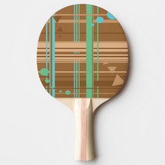 Geometría del chocolate de la menta pala de ping pong