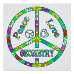 Geometría del signo de la paz poster