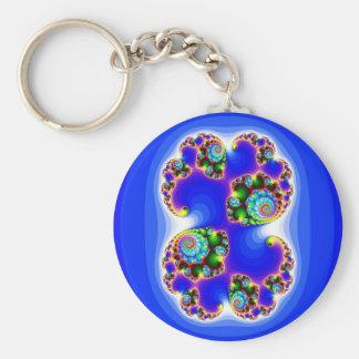 Geometría determinada determinada del fractal de J Llavero Redondo Tipo Pin