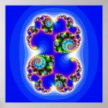 Geometría determinada determinada del fractal de J Posters