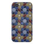 Geometría en azul iPhone 4/4S carcasas