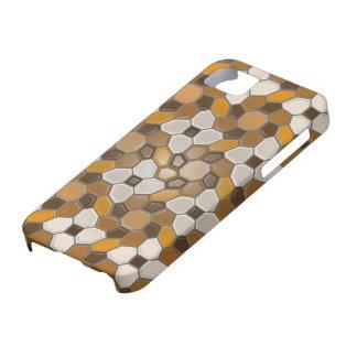 Geometría en el marrón (resplandor solar) funda para iPhone SE/5/5s