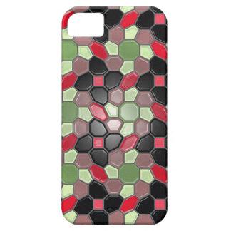 Geometría en multicolor (resplandor solar) funda para iPhone SE/5/5s