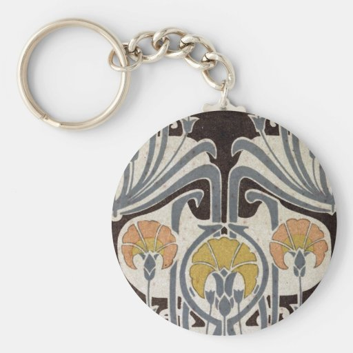 geometría floral de la maravilla del nouveau del a llavero