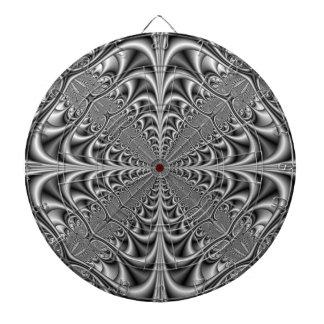 Geometría gótica en Dartboard monocromático Tabla Dardos
