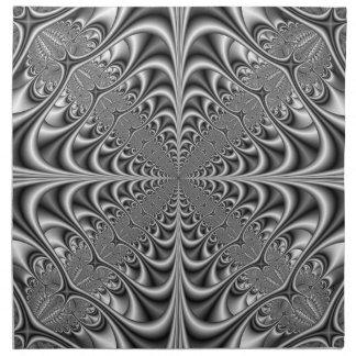 Geometría gótica en servilletas monocromáticas