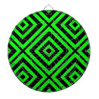 Geometría hipnótica verde