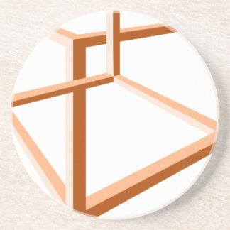 Geometría imposible de la ilusión 3d de la ilusión posavasos cerveza