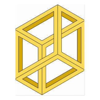 Geometría imposible de la ilusión 3d de la ilusión postales