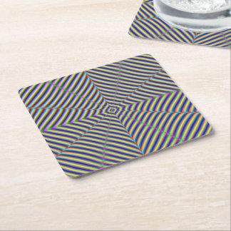 Geometría mareada del práctico de costa de papel posavasos desechable cuadrado