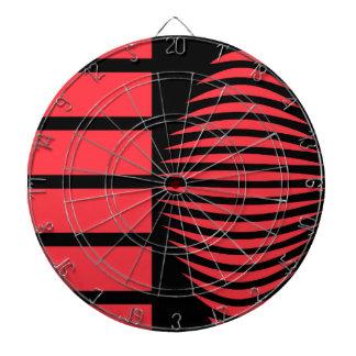 Geometría mística negra y roja