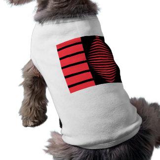 Geometría mística negra y roja playera sin mangas para perro