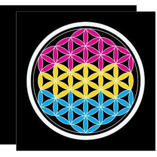 "geometría panSacred Invitación 5.25"" X 5.25"""