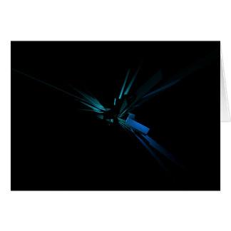Geometría que brilla intensamente del azul y del tarjeta de felicitación