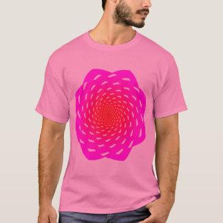 Geometría rosada abstracta de la flor playera