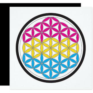 """geometría sagrada de la cacerola invitación 5.25"""" x 5.25"""""""