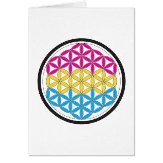 geometría sagrada de la cacerola tarjeta de felicitación