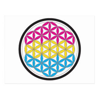 geometría sagrada de la cacerola tarjeta postal