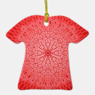 Geometría sagrada de la mandala roja de Chakra Adorno De Cerámica En Forma De Playera