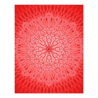 Geometría sagrada de la mandala roja de Chakra Membrete