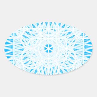 geometría sagrada del chakra brillante de la calcomanía ovaladas personalizadas