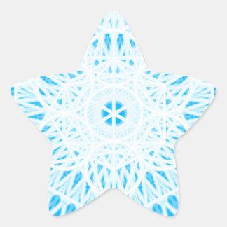 geometría sagrada del chakra brillante de la calcomanías forma de estrellaes