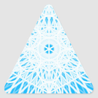 geometría sagrada del chakra brillante de la colcomanias de triangulo